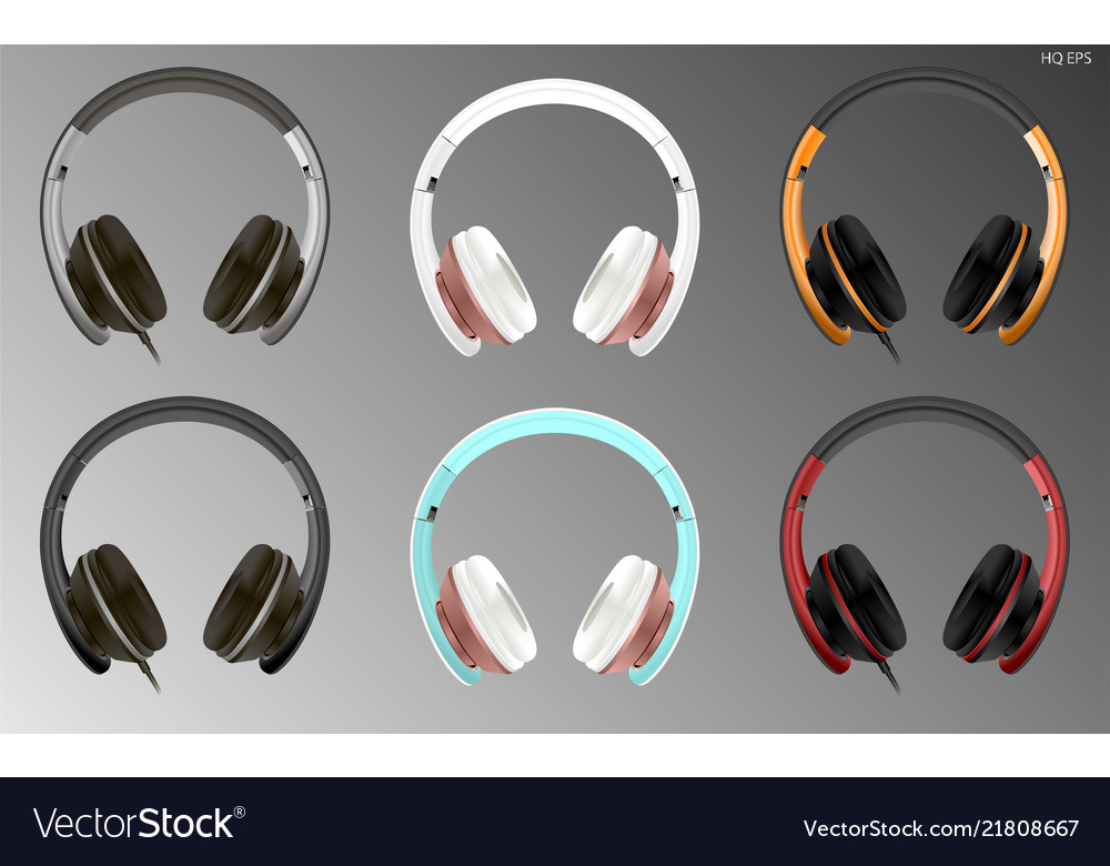 Realistic high quality modern headset