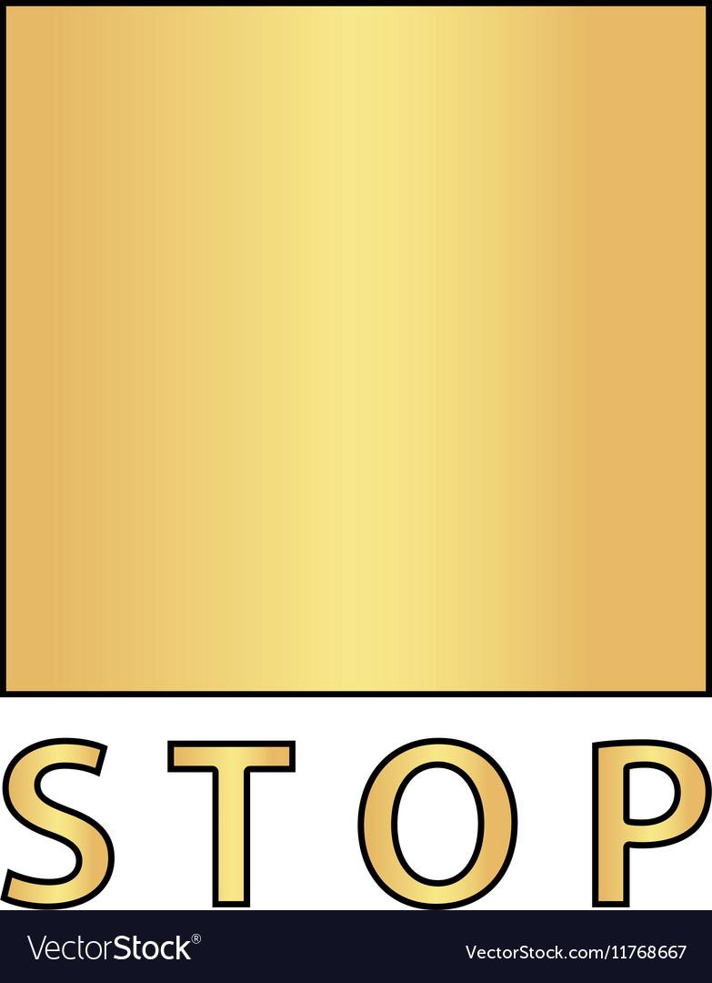 Stop button computer symbol