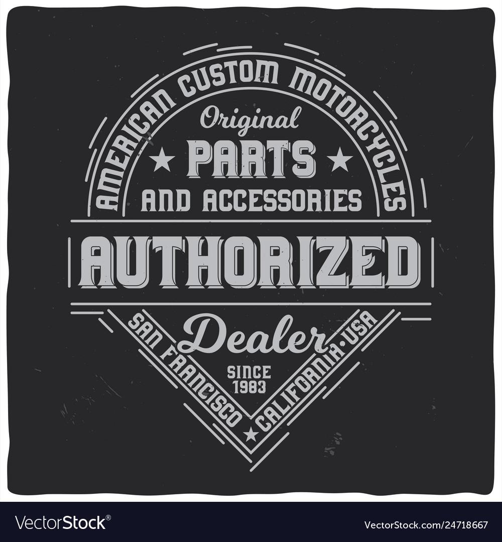 Vintage label design with lettering
