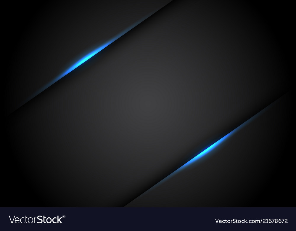 Abstract blue light line shadow on black blank
