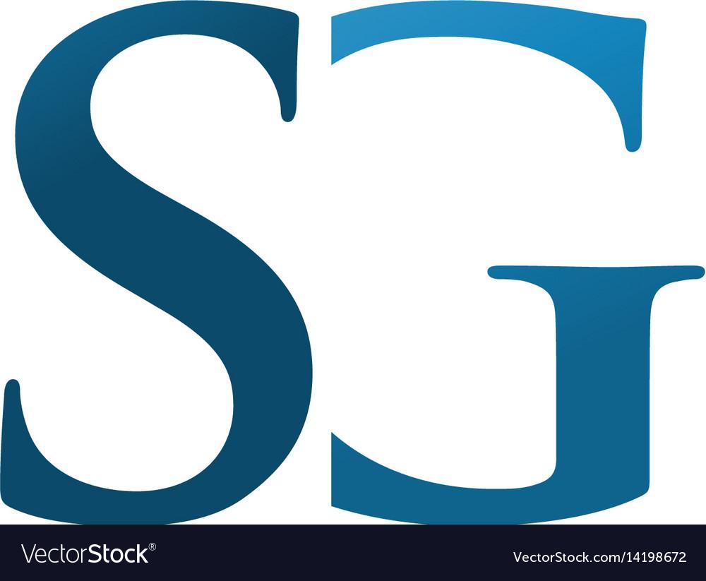 Elegant letter sg logo concept