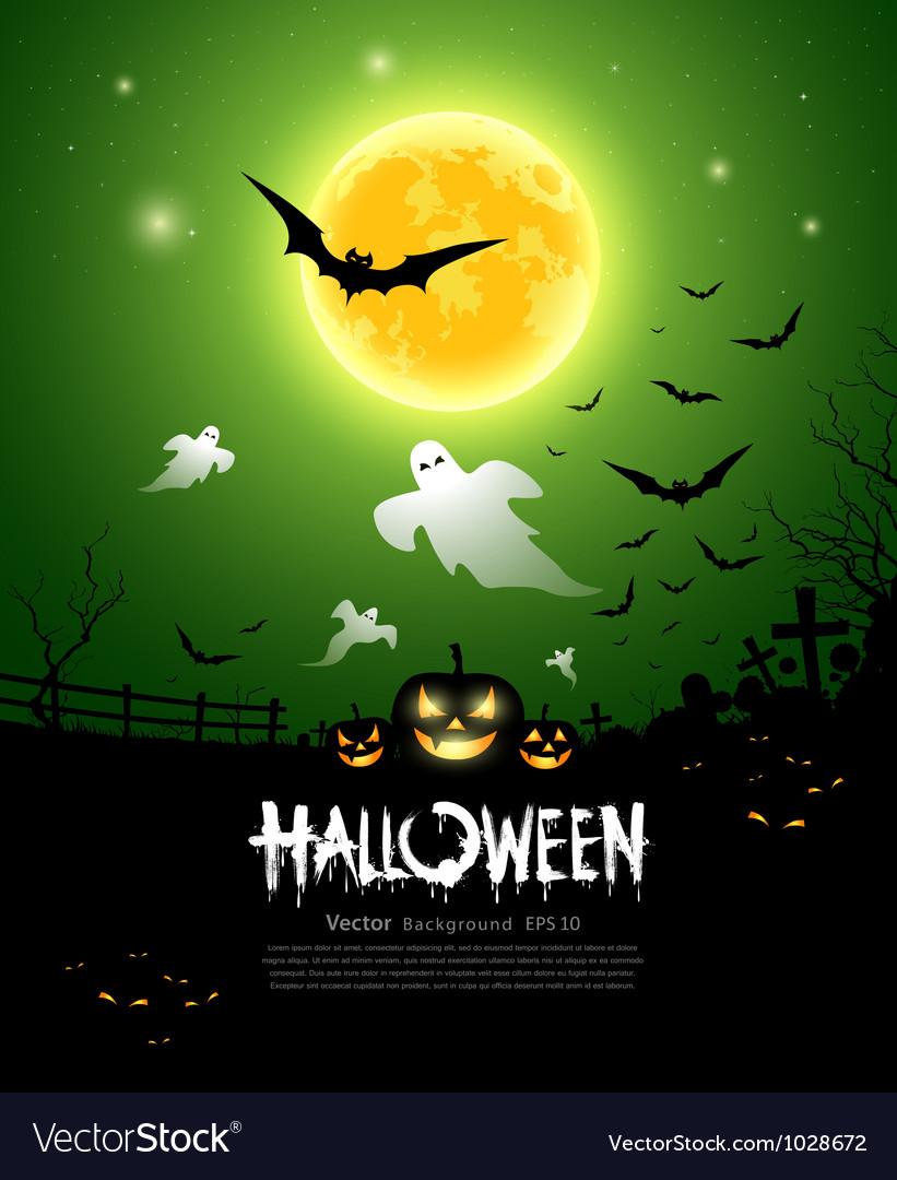 Happy Halloween ghost design vector image