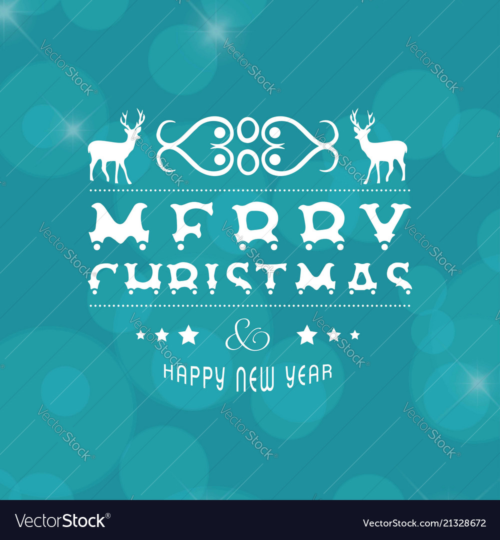 Merry christmas and newyear card with christmas