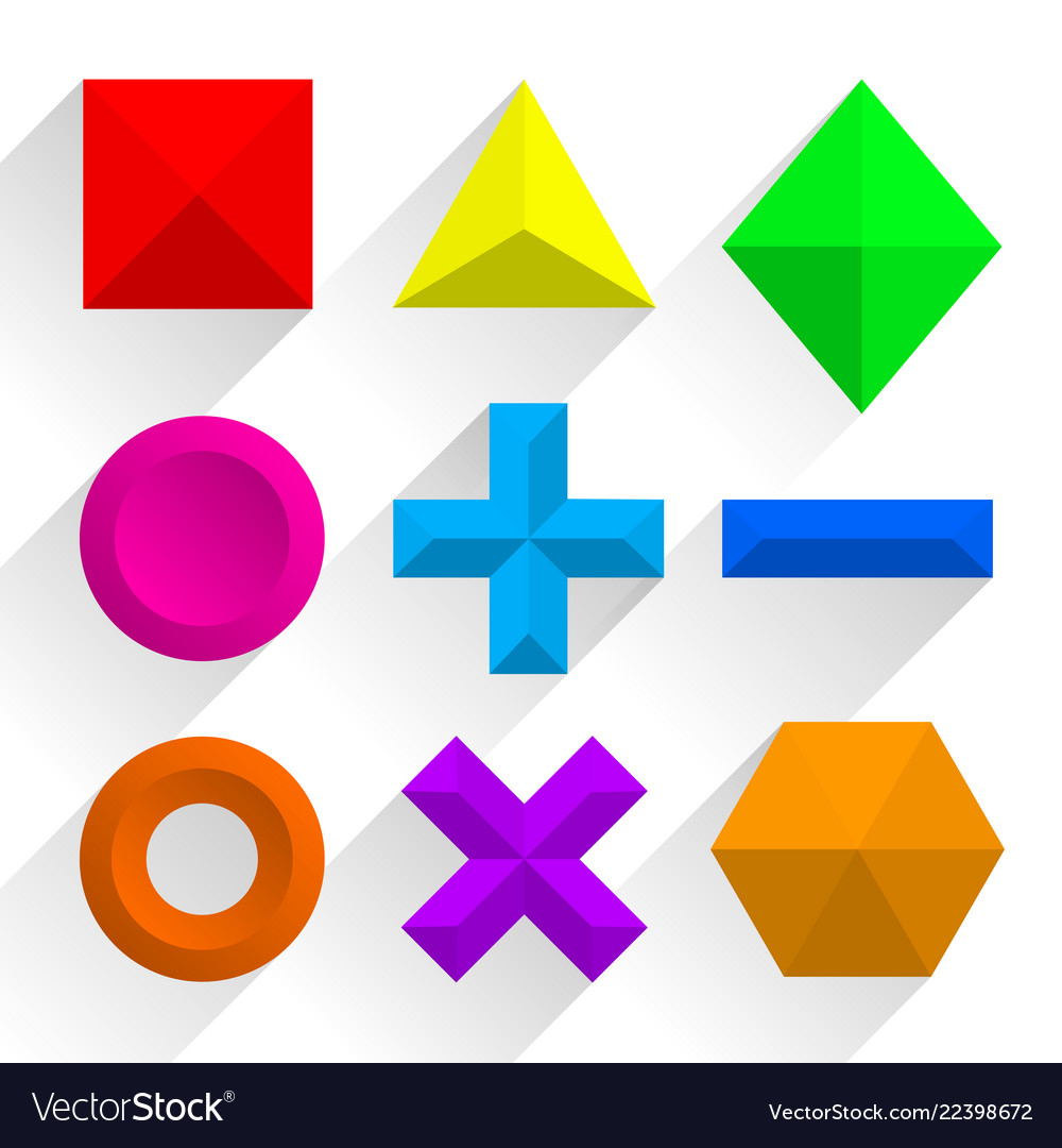 Polygonal colorful shapes