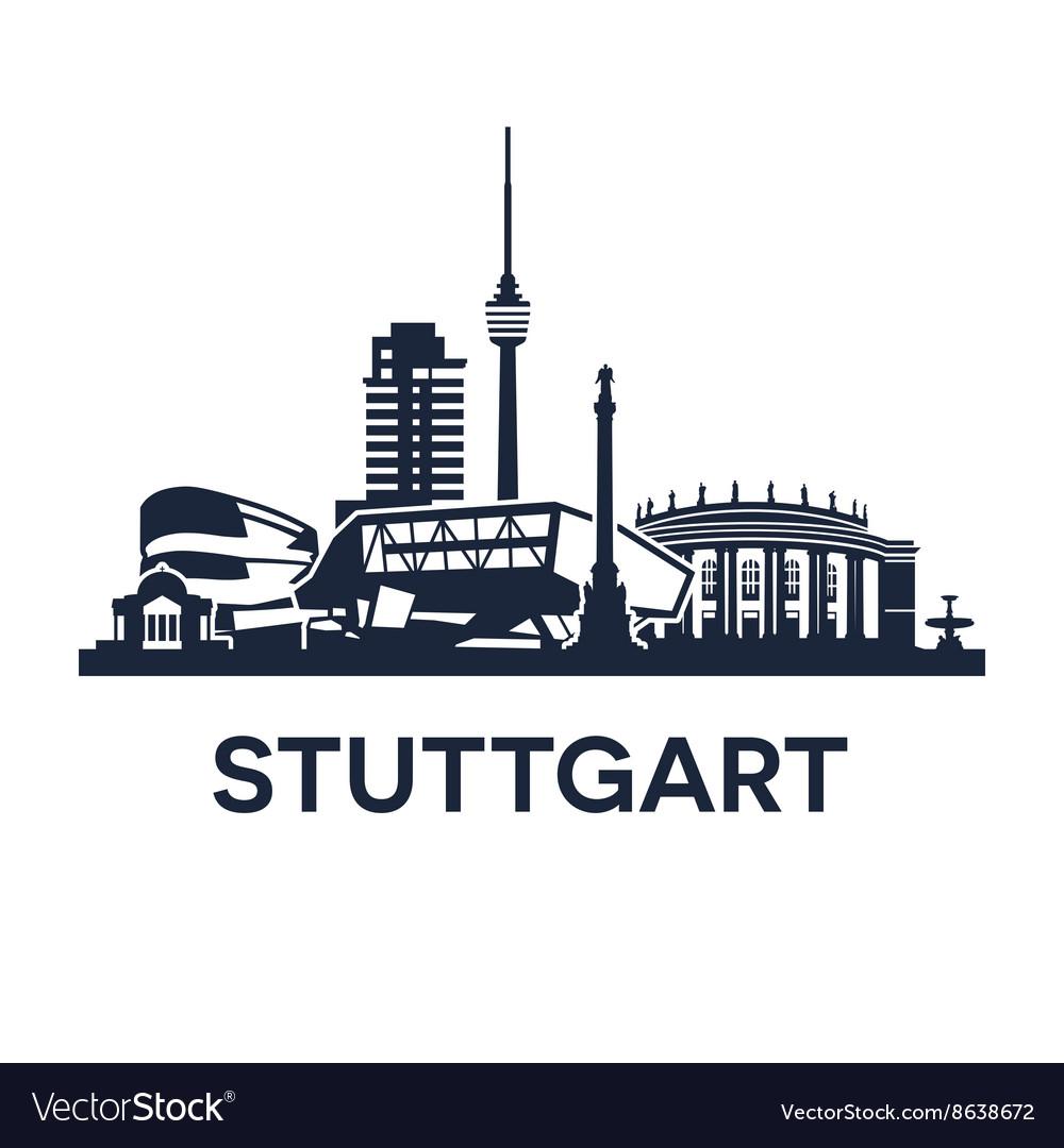 Stuttgart skyline emblem