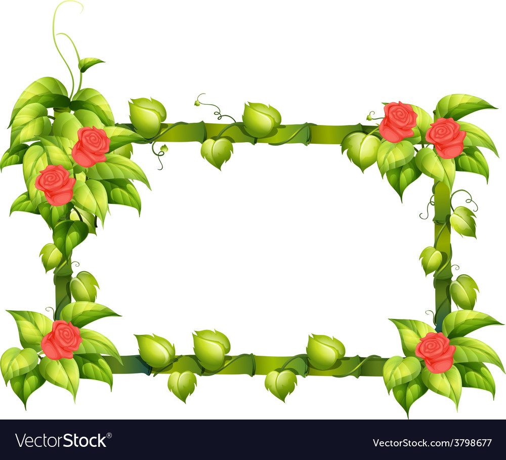 A Floral Border Design Royalty Free Vector Image