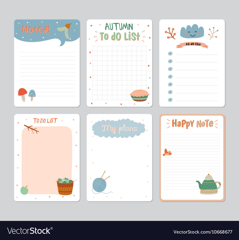 Cute Daily To Do List Template