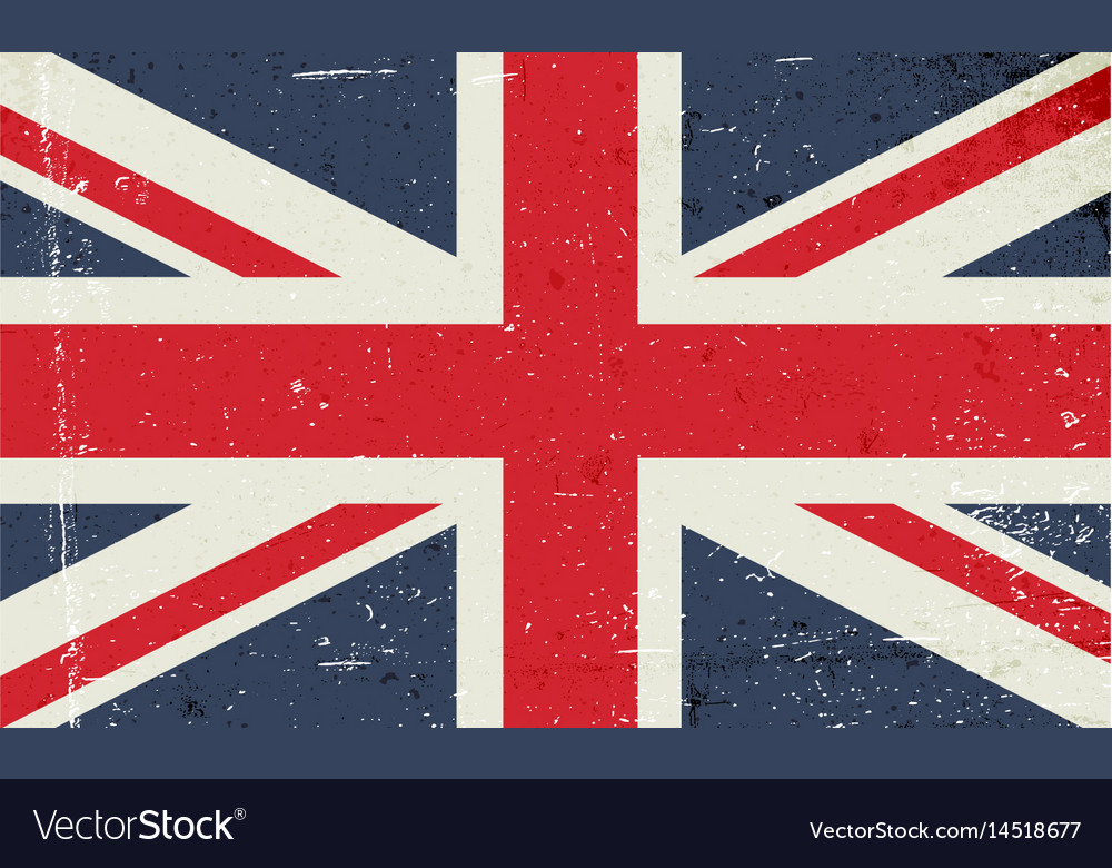 Grunge image of the british flag abstract grungy
