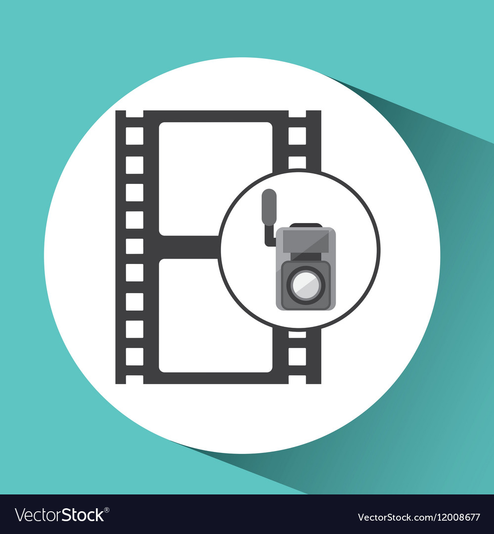 Movie video camera strip film icon