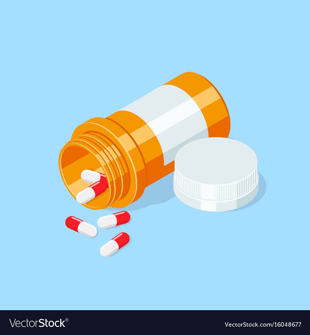 Pill bottle medical capsules container