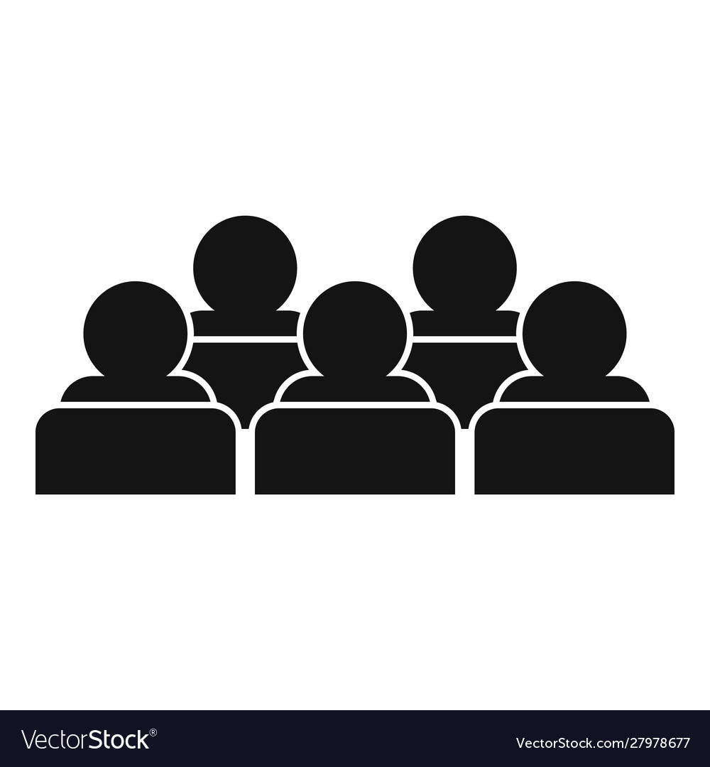 Training audience icon simple style Royalty Free Vector