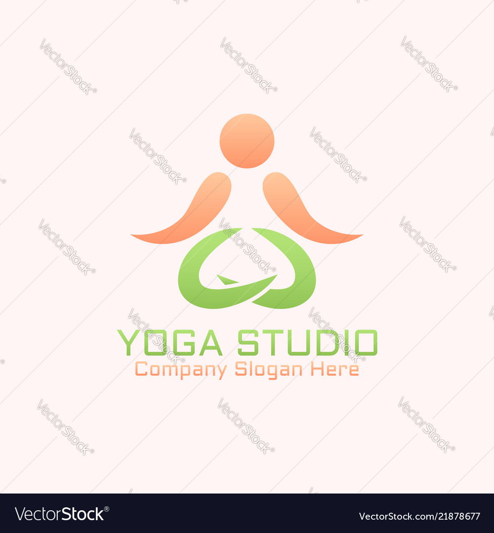 Yoga studio isolated abstract logo template