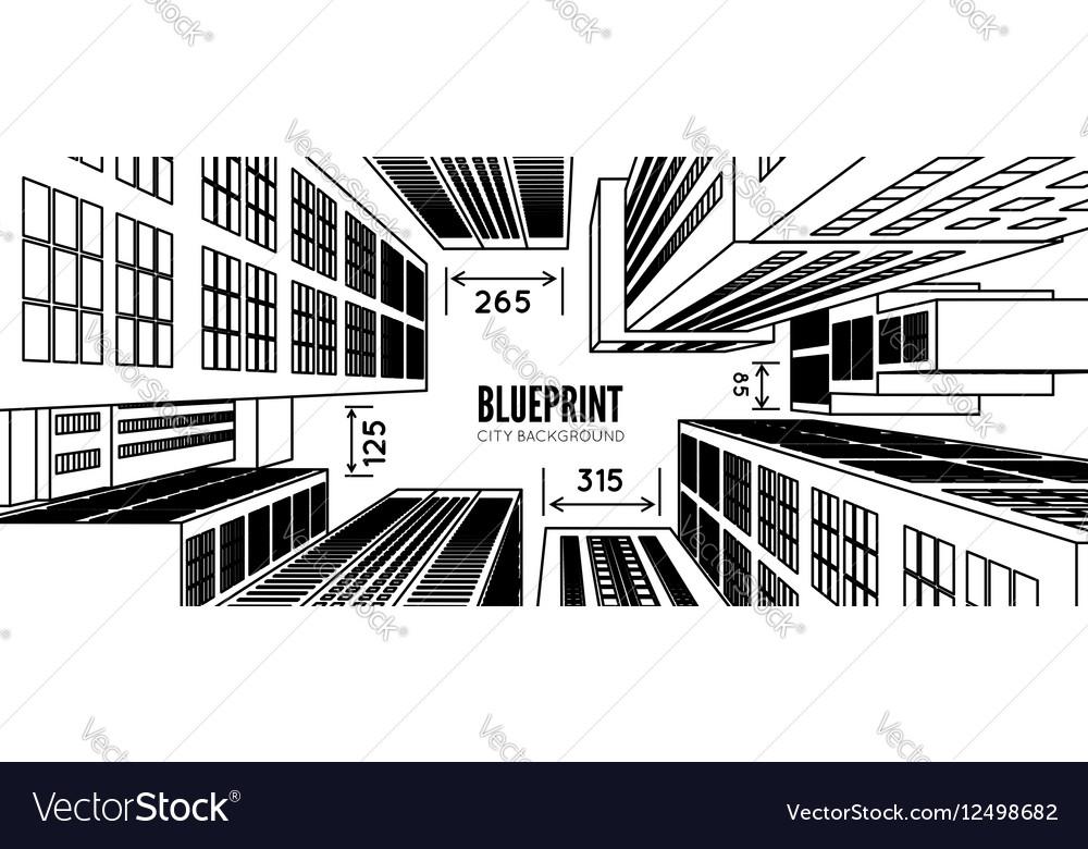 Building wireframe 3d render city