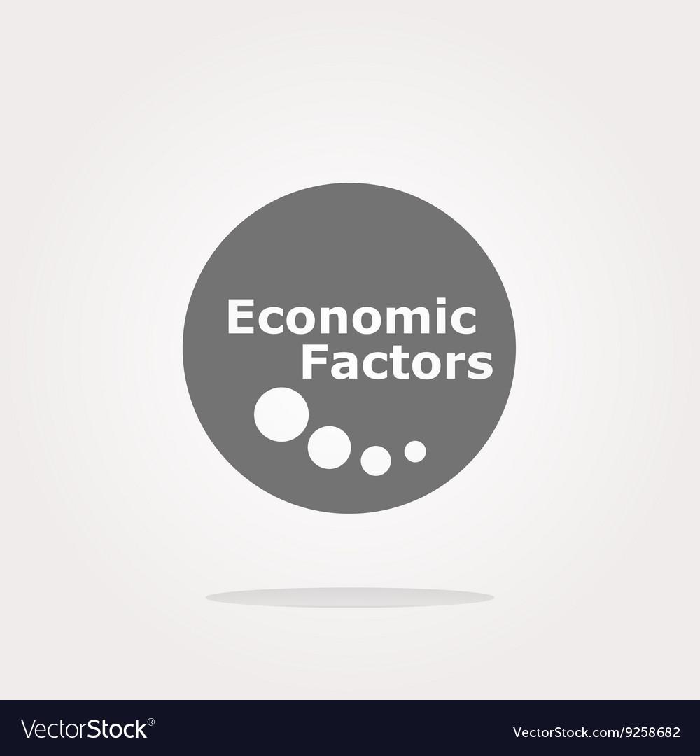 Economic factors web button icon isolated