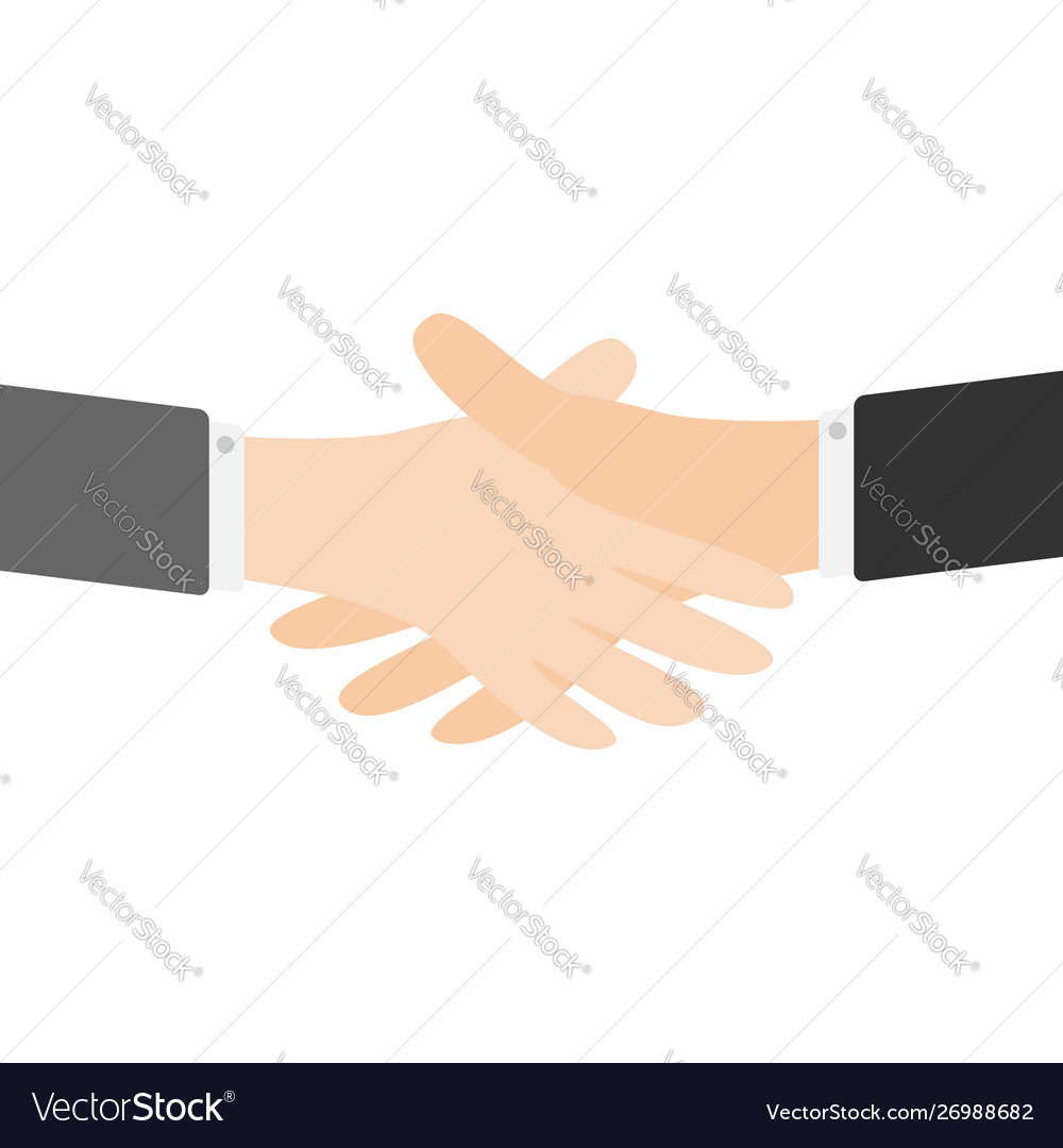Handshake icon two businessman hands arms