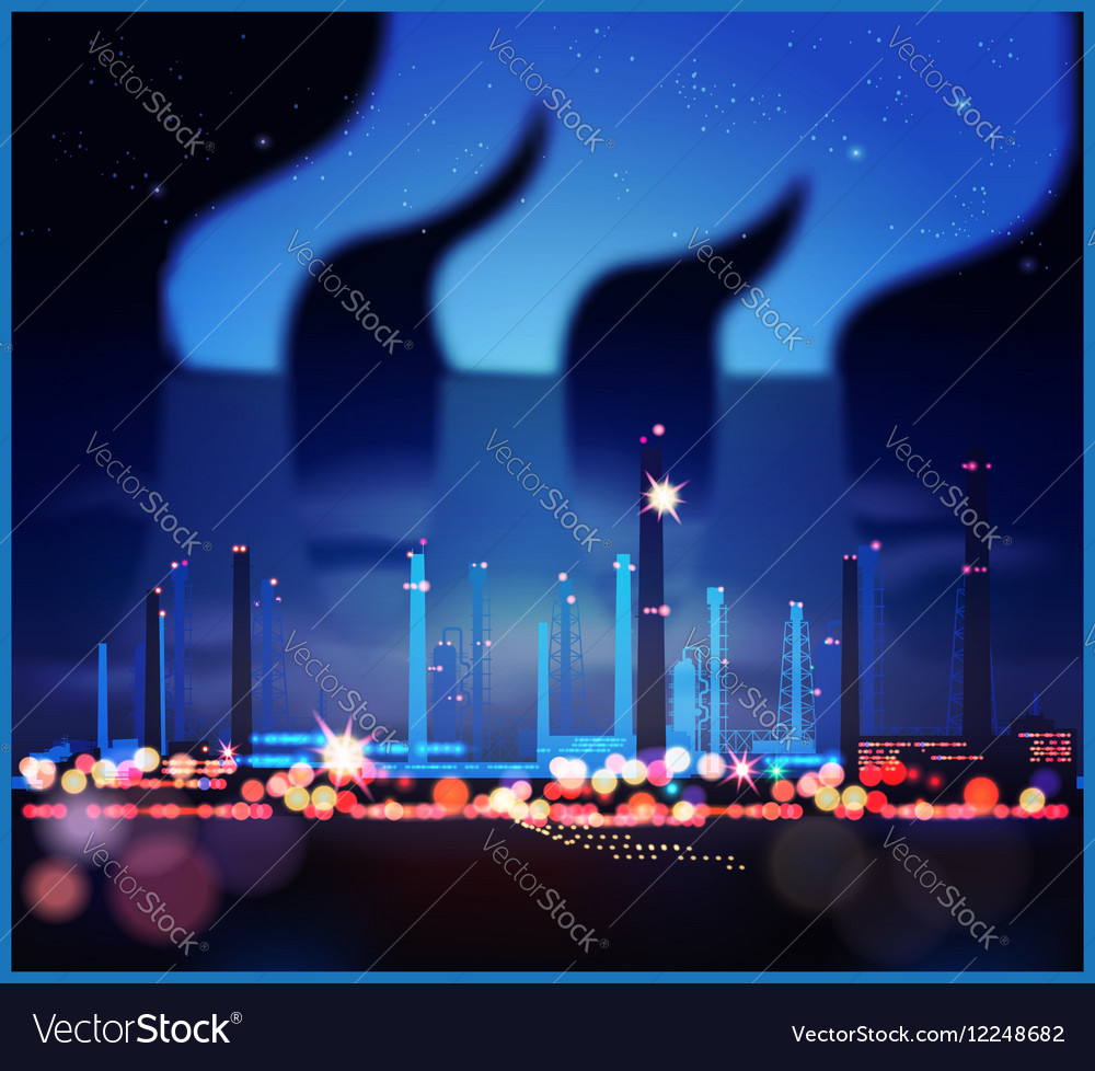 Industrial night lights vector image
