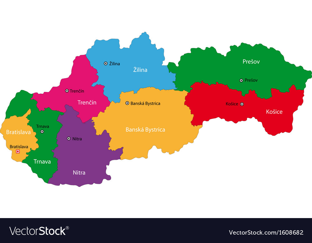 Slovakia map Royalty Free Vector Image - VectorStock