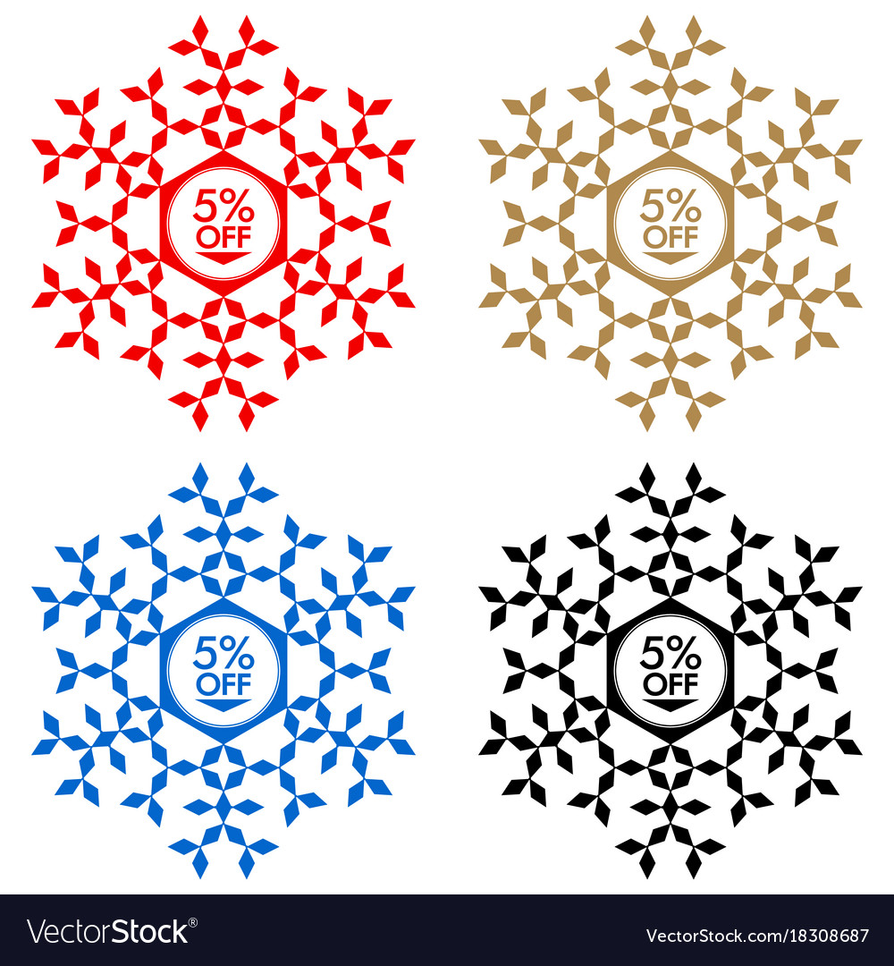 75 off discount sticker snowflake 75 off sale