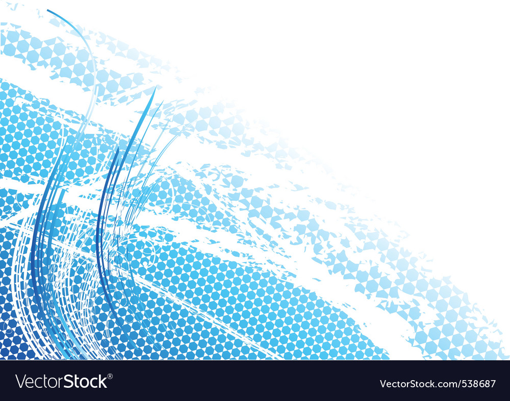 Blue light background with curves