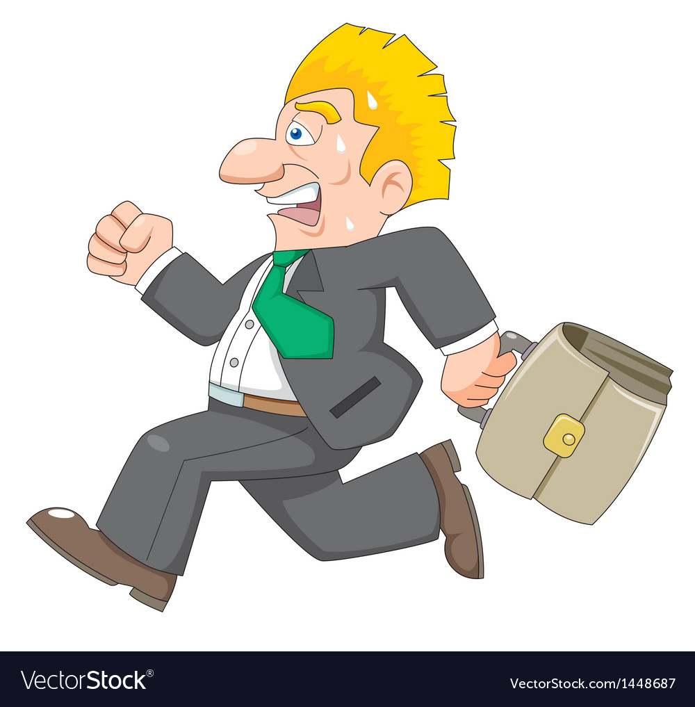 Business man is running vector image