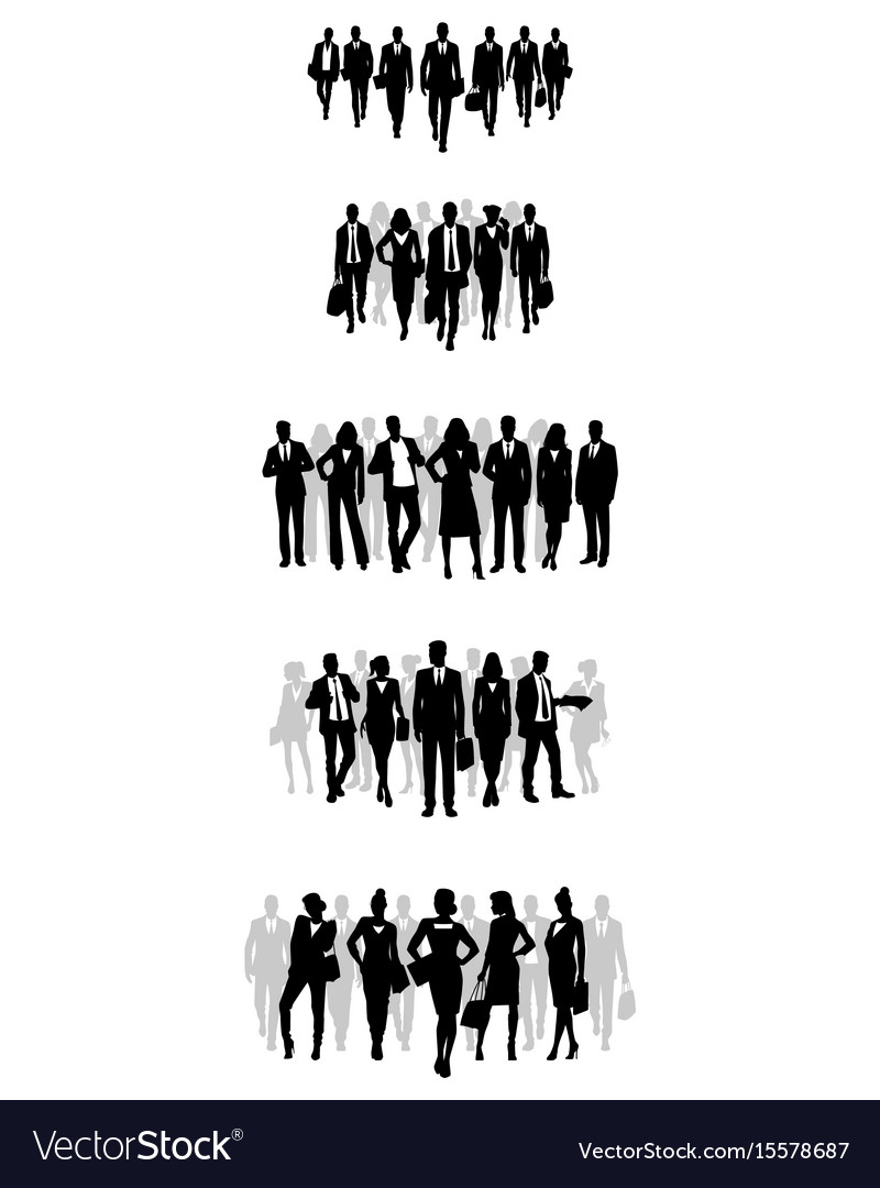 Business teams set vector image