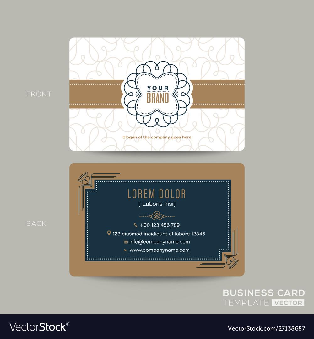 Classic vintage business card namecard design