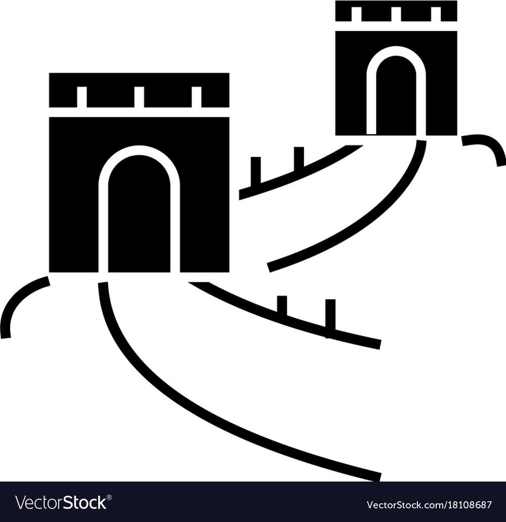 Great wall - china icon
