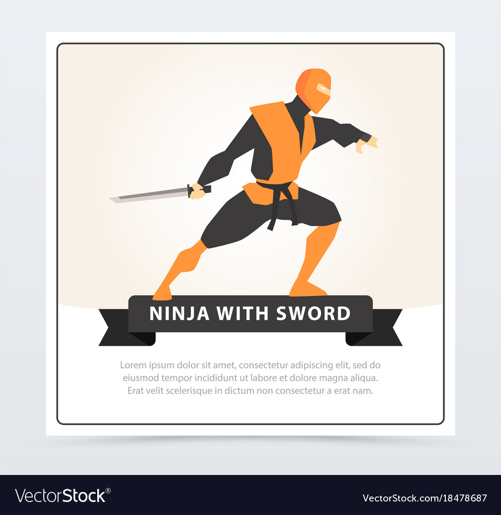 Ninja with sword japanese martial arts fighter