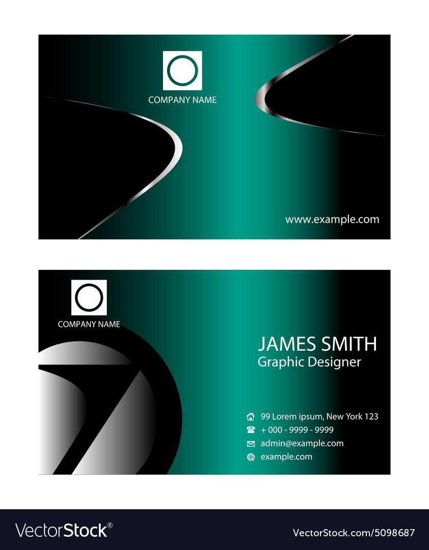 Professional business card template royalty free vector professional business card template vector image cheaphphosting Gallery