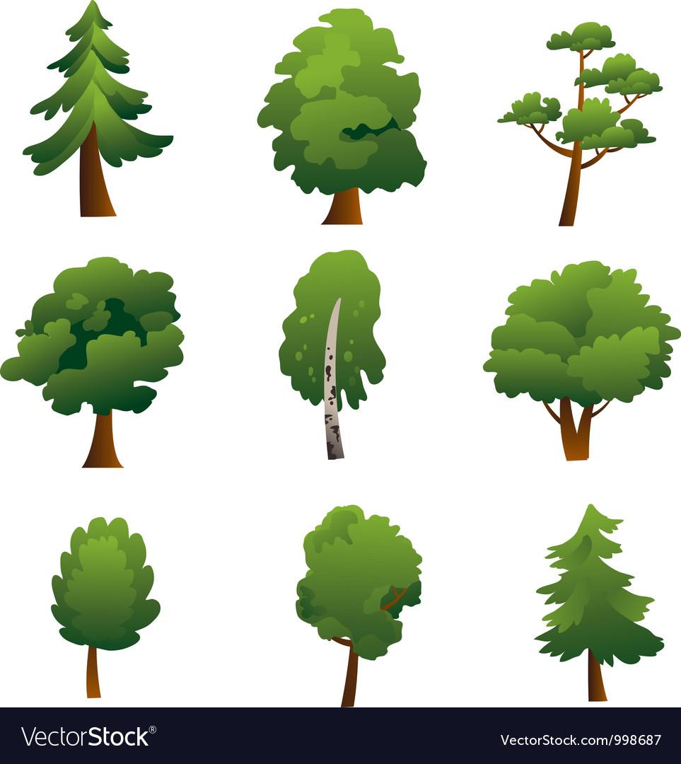 Set of trees - summer