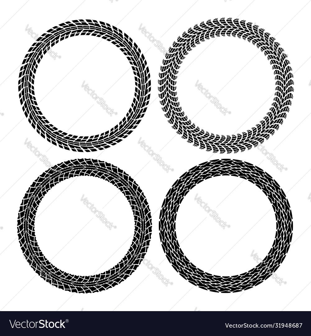 Set round tire tracks