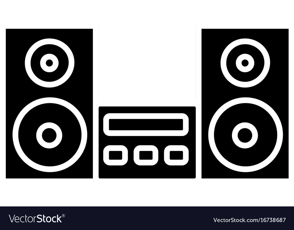 Stereo System Icon Royalty Free Vector Image Vectorstock