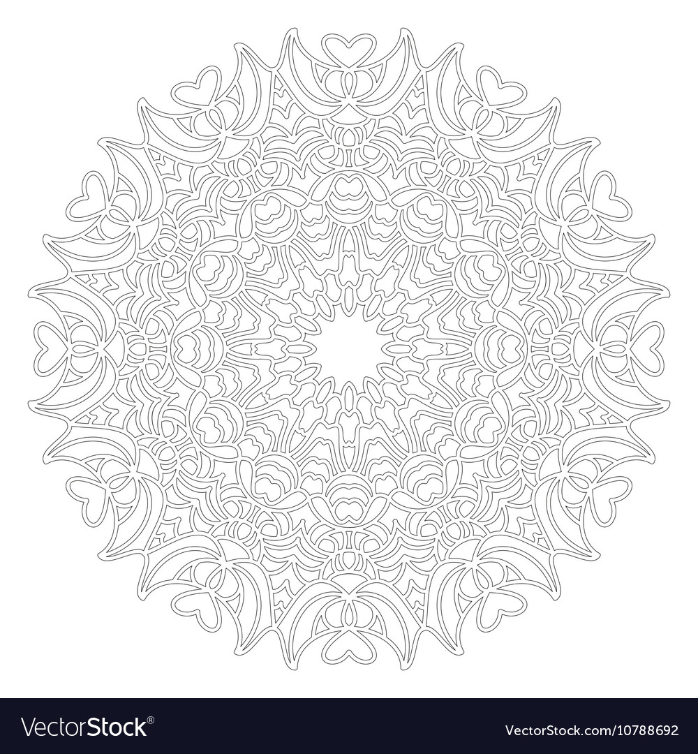Adult coloring book lovely mandala black and white
