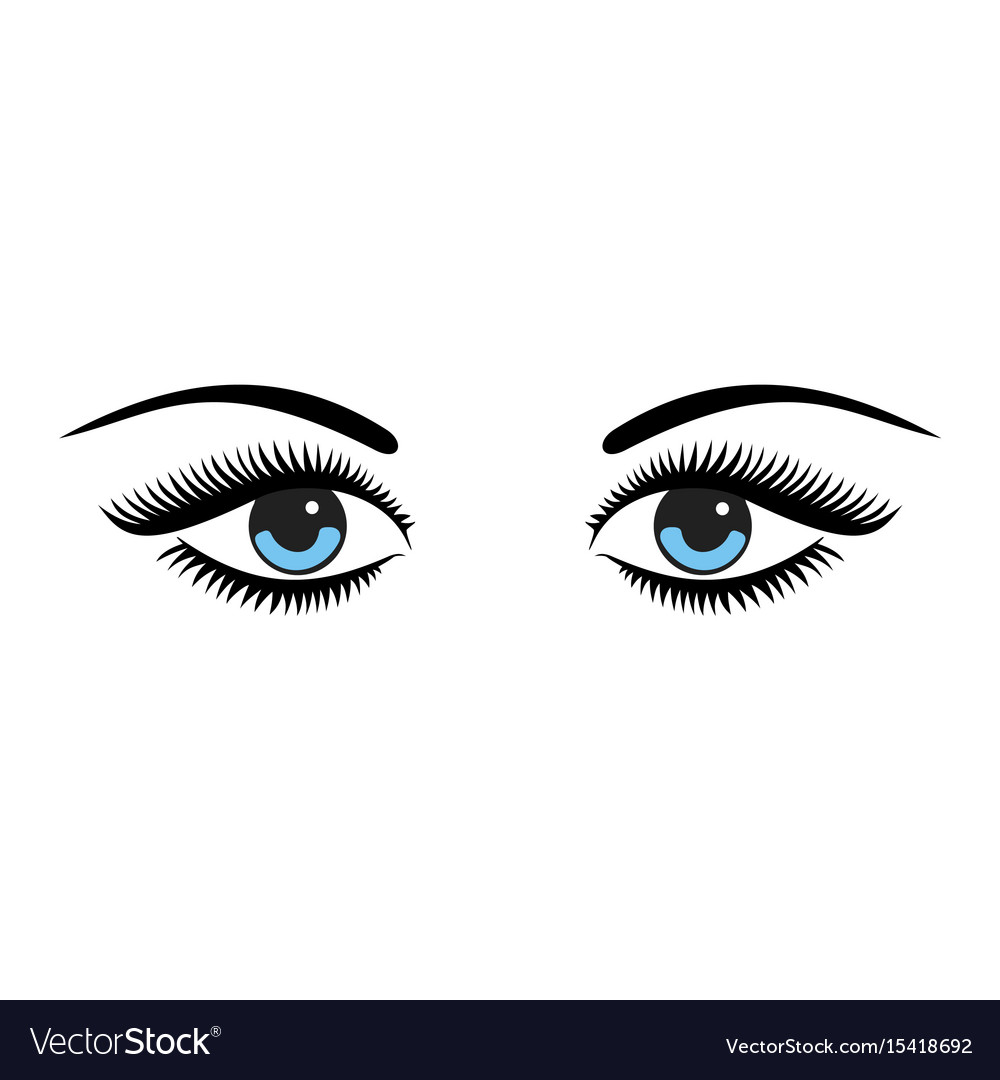 Beautiful Women Blue Eyes With Make Up Royalty Free Vector