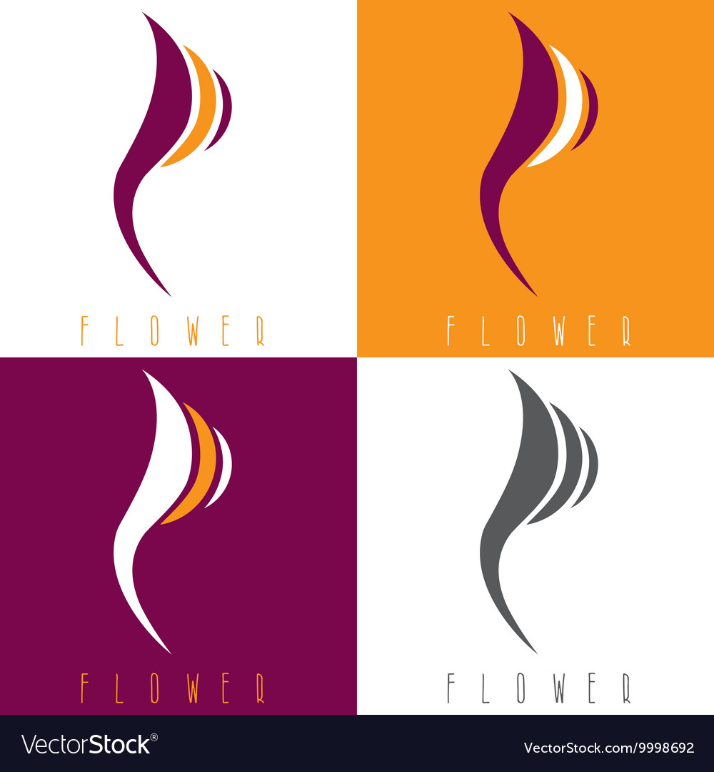 Design template set of abstract flowers vector image