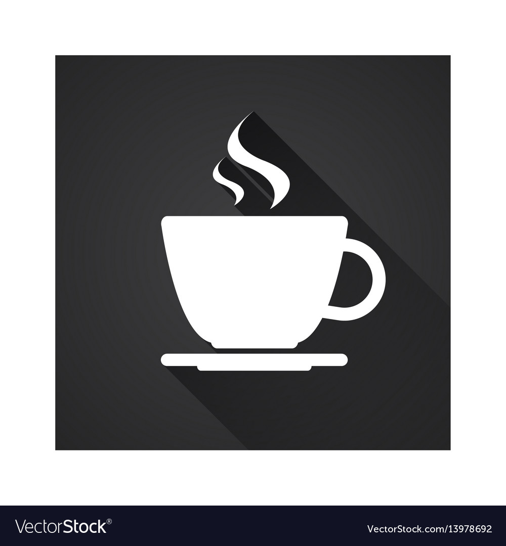 Flat icon of simple coffee cup