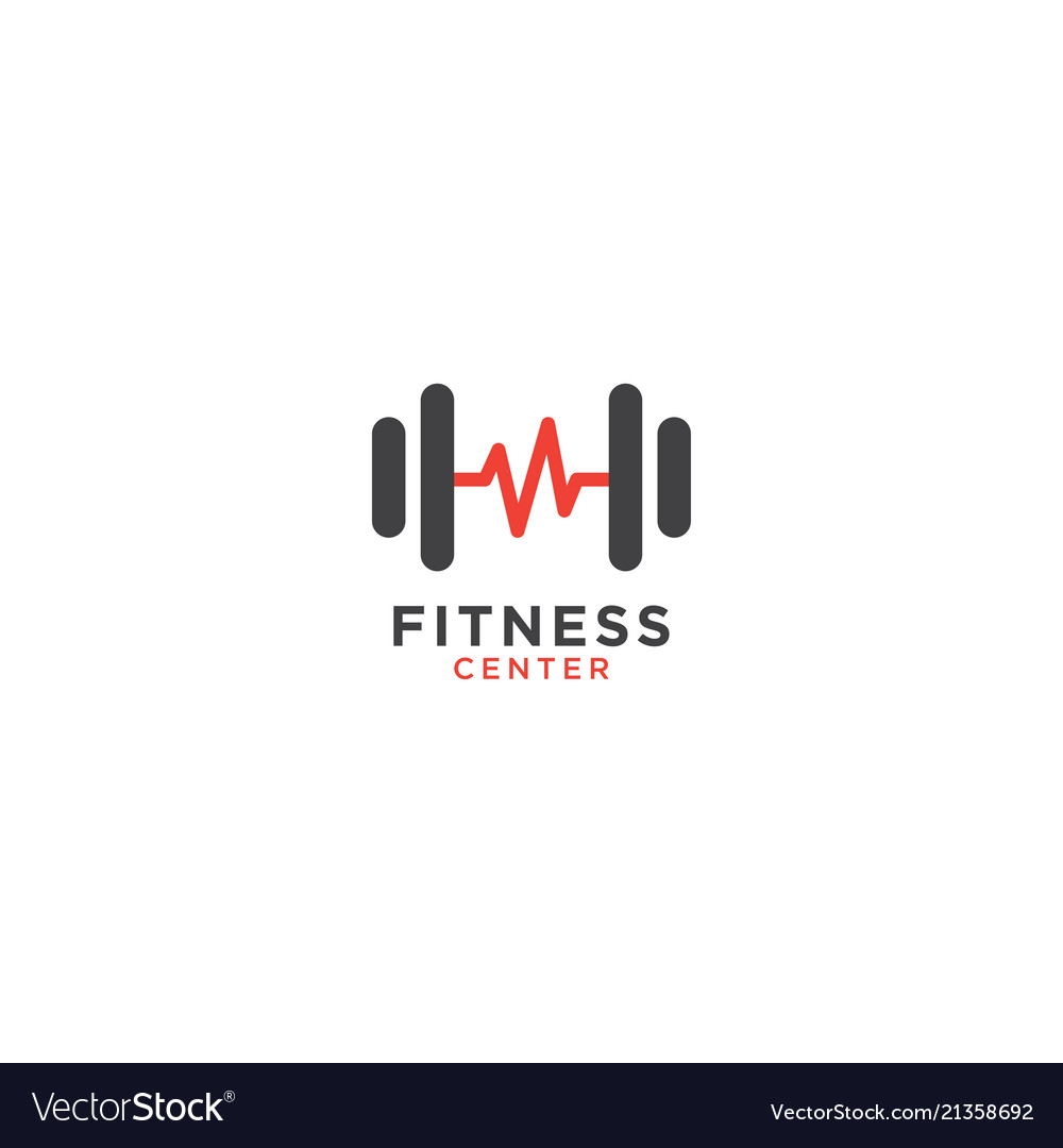 Simple Fitness Logo Design Template Royalty Free Vector