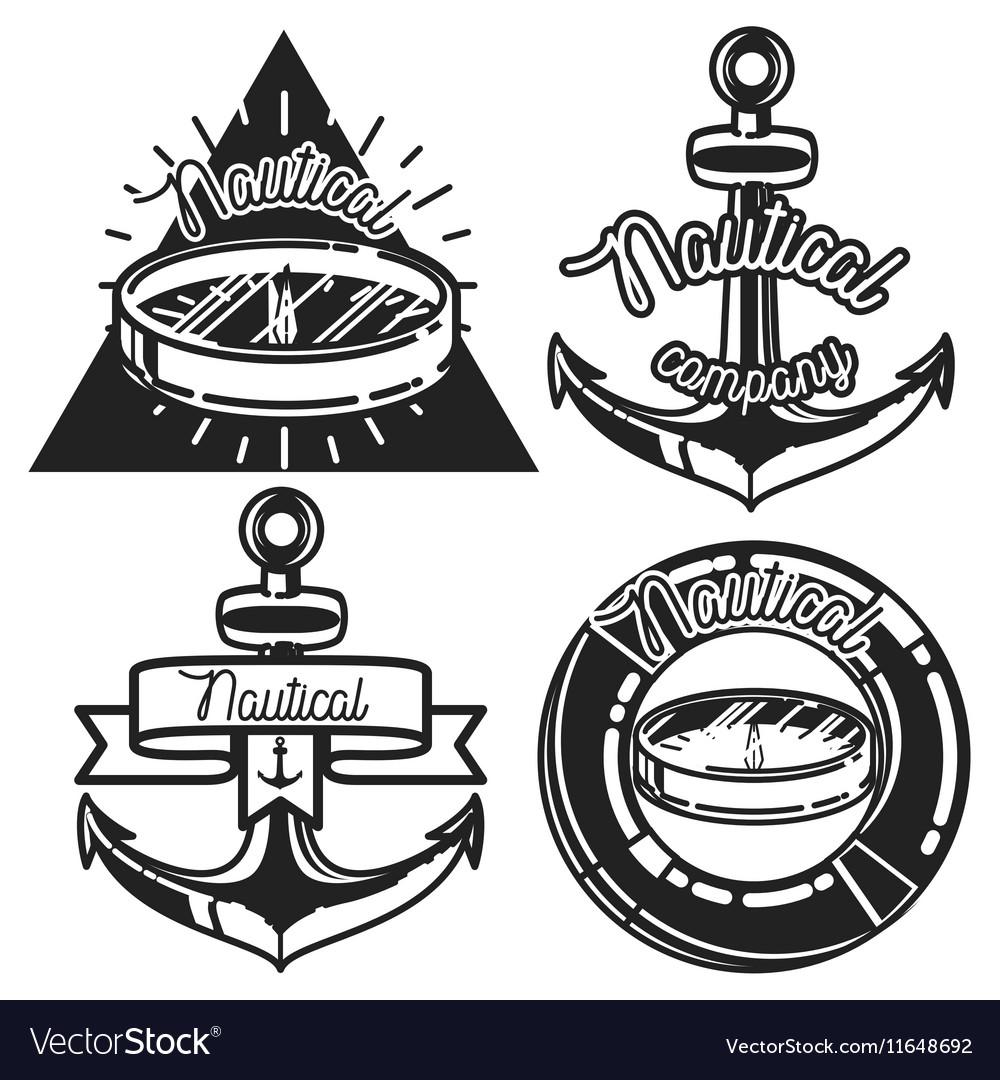 Vintage nautical emblems
