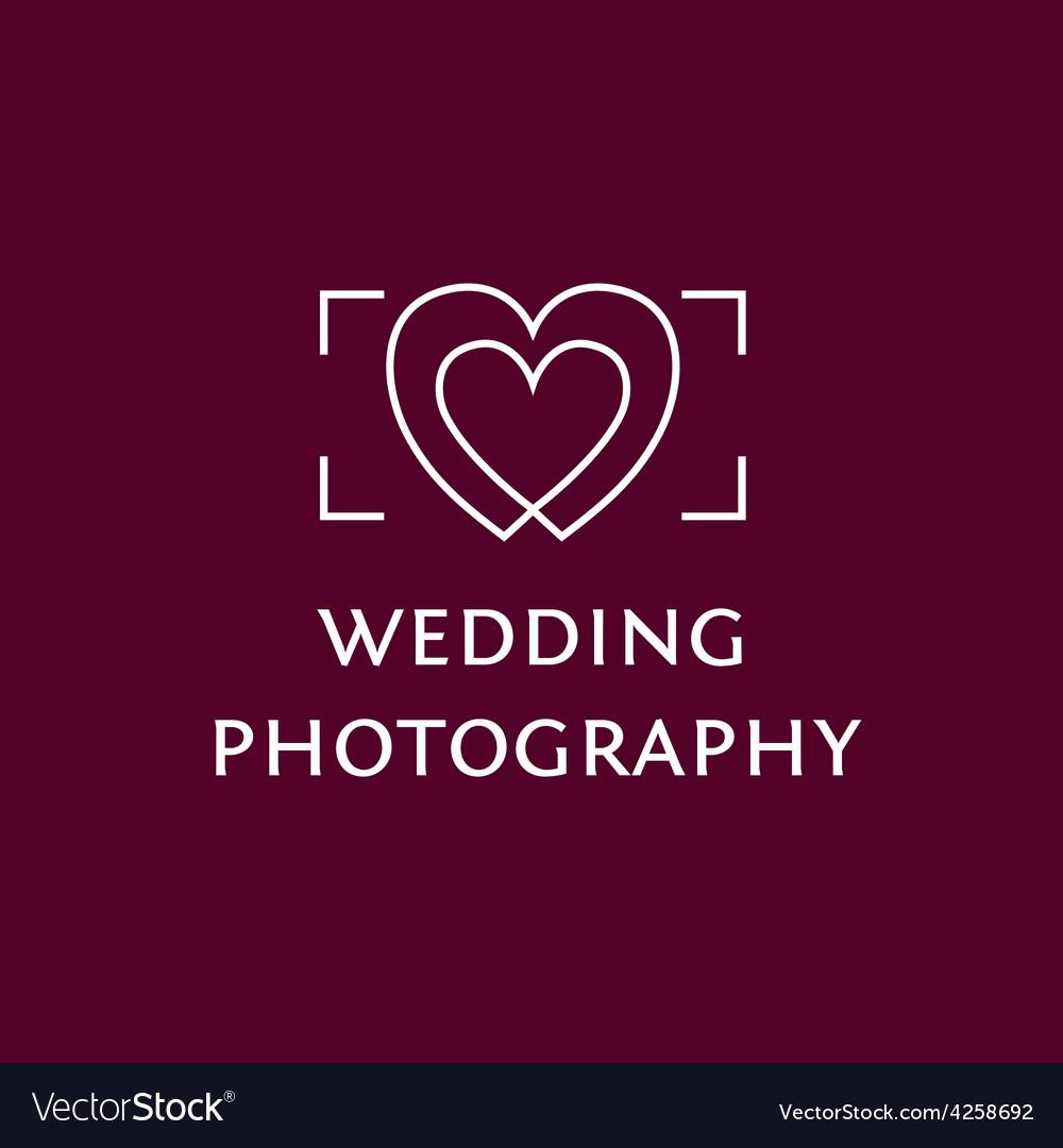 Wedding Photography Logo Royalty Free Vector Image