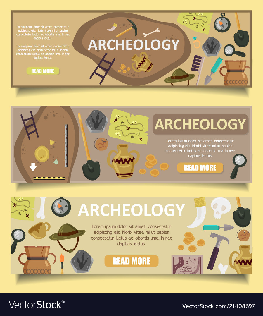 Archaeology banners web templates