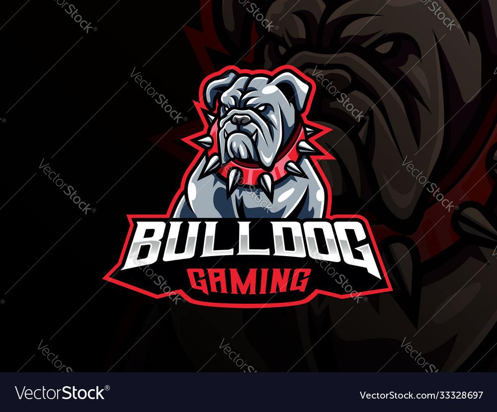 Bulldog mascot sport logo design