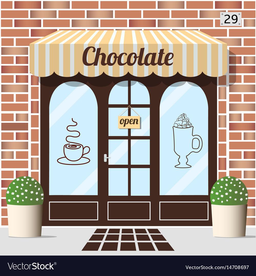 Chocolate shop facade