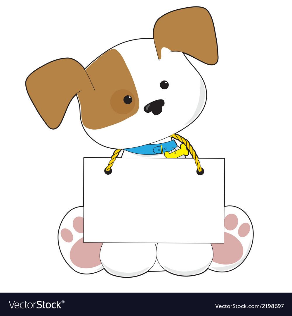 Cute Puppy Sign