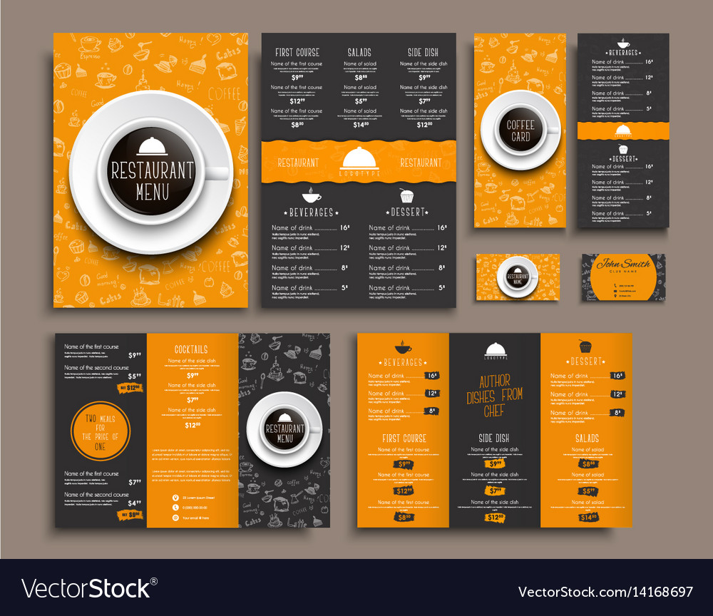 Template A Menu Folding Brochures And Flyers Vector Image - Foldable menu template