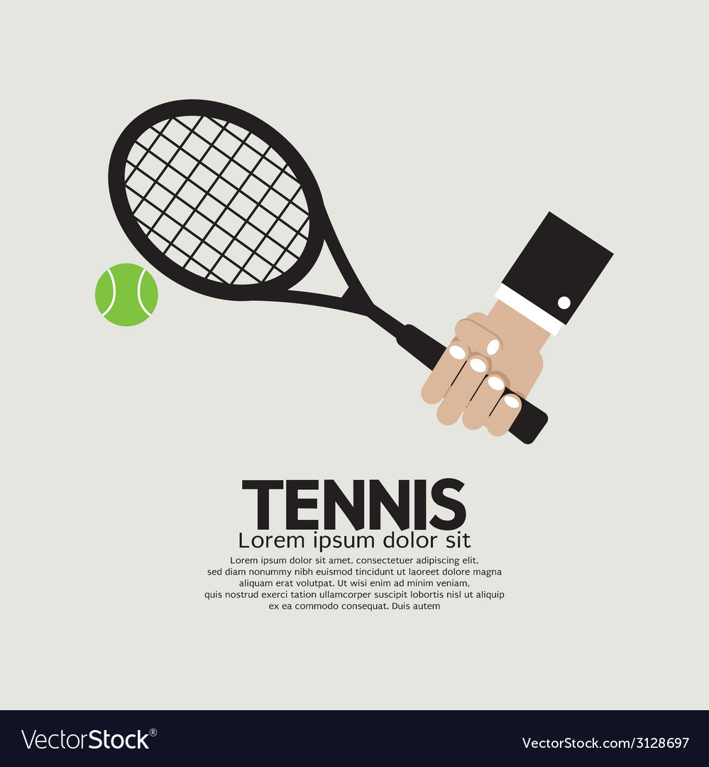 Tennis Playing Graphic