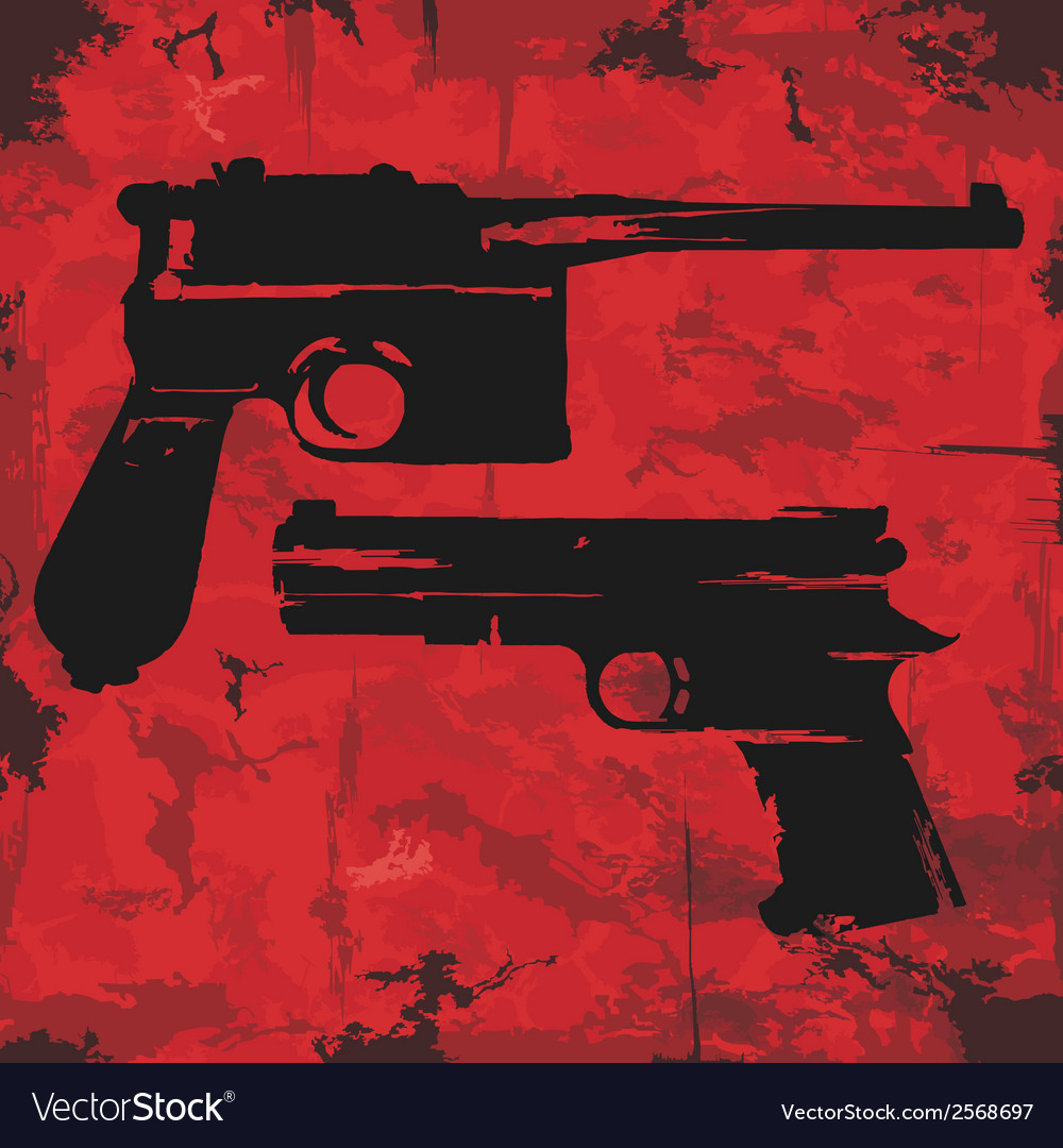 Vintage grunge guns graphic design