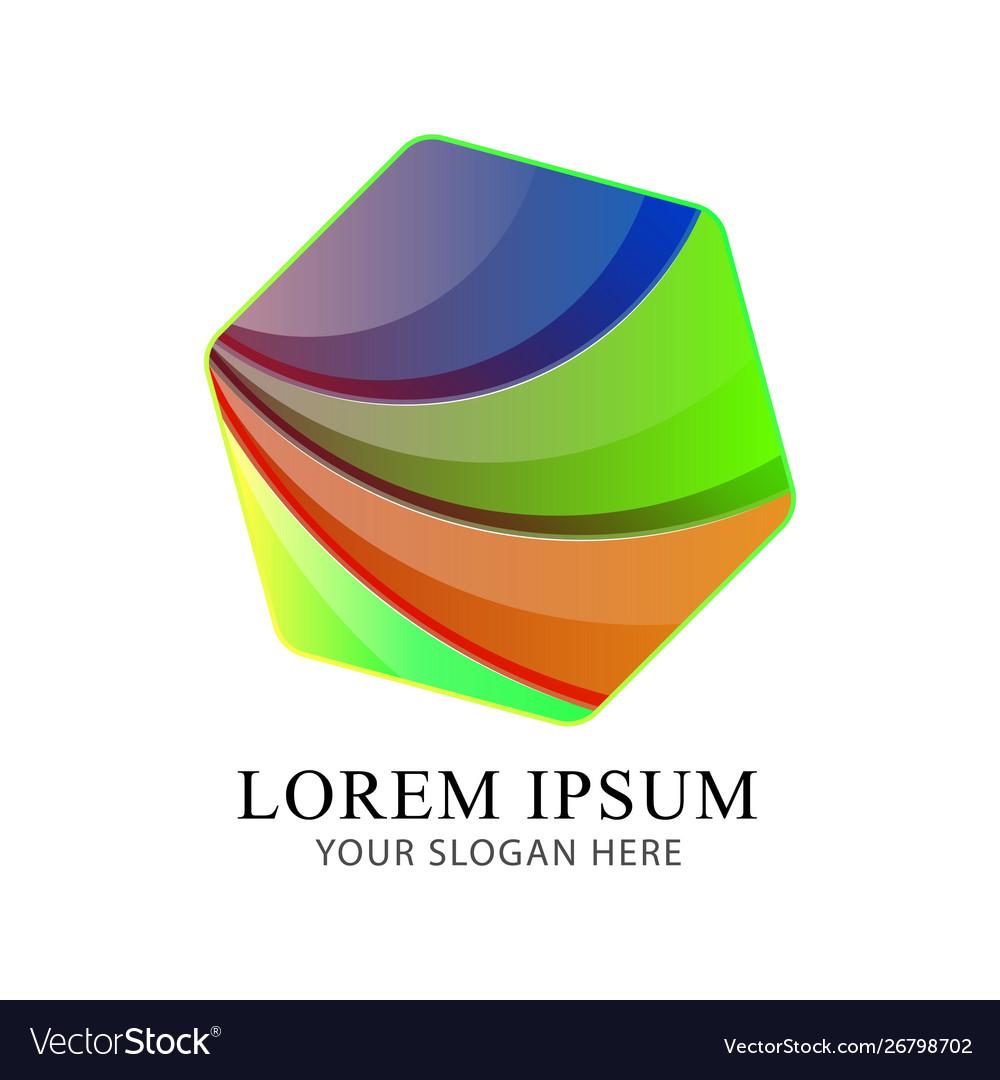 Abstract cube modern logo identity beautiful