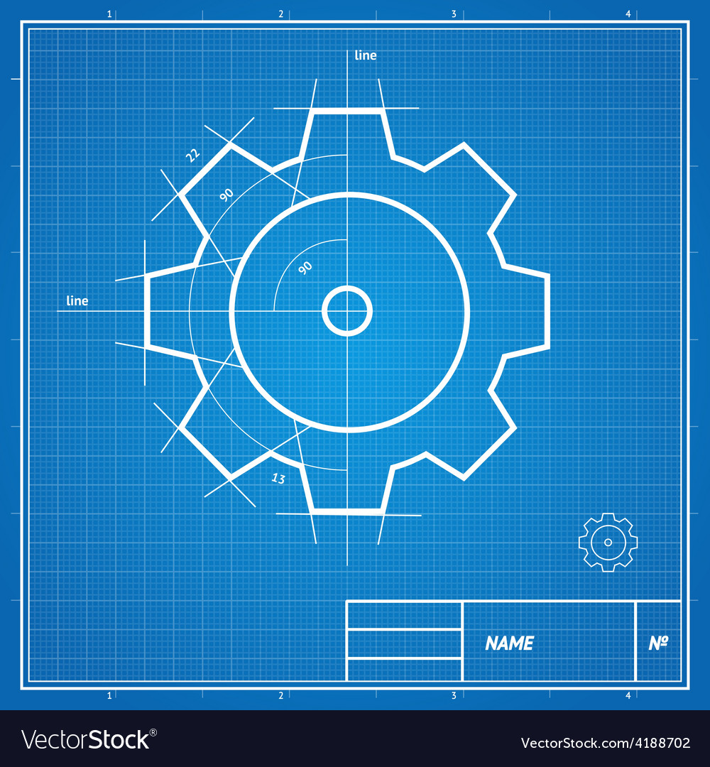 Blueprint gear card royalty free vector image vectorstock blueprint gear card vector image malvernweather Image collections
