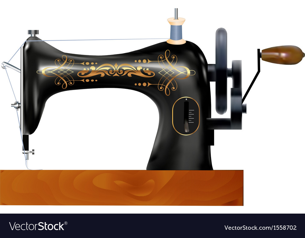 Old Sewing Machine Royalty Free Vector Image VectorStock Magnificent Old Sewing Machine
