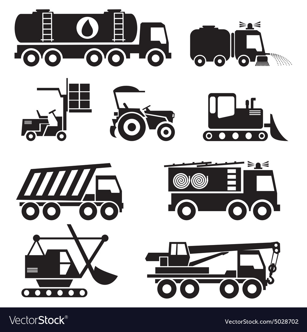 Special Vehicles Vs Vector Image